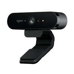 Image of Logitech BRIO. Risoluzione massima video: 4096 x 2160 Pixel, Frequenza massima dei fotogrammi: 90 fps, Risoluzione a velocit? di acquisizione: 1280x720@30fps,1280x720@60fps,1920x1080@30fps,1920x1080@60fps. Interfaccia: USB 3.0, Colore del prodotto: Nero,