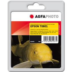 Image of ORIGINAL Agfa Photo Cartuccia d'inchiostro nero APET080BD Agfa Photo ~330 Seiten 8ml Agfa Photo T0801 (C13T08014011)