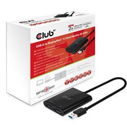 Image of CLUB3D USB A 3.1 GEN 1 DP 1.2 DUAL MONITOR