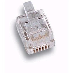 Image of · Plug Telefonici Maschio· 6 poli 6 contatti· Plug standard RJ12· Trasparente· Acquistabile in multipli di 10 pz
