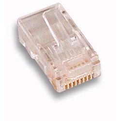 Image of · Plug Telefonico Maschio· 8 poli 8 contatti· Materiale: plastica· Colore: trasparente