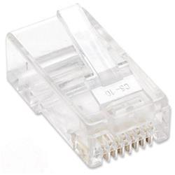 Image of · Plug modulari RJ45 Cat5e· Contatti dorati 15 µ· Lamella a 2 contatti per cavo flessibile· Installabile su cavo tondo· Per applicazioni su cavo a coppie non schermato· Design 8P8C standard, compatibile con
