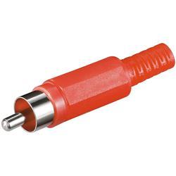 Image of · Adattatore Audio RCA maschio· Protezione del connettore in plastica· Lunghezza connettore: 46 mm· Diametro connettore: 11 mm· Colore: Rosso