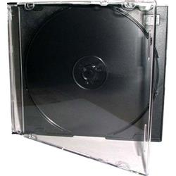 Image of · CD Slim Jewel Case 5.2mm, 1 CD· Colore Tray: Nero· Copertina: trasparente· Dimensioni: 142 x 124 x 5,2 mm