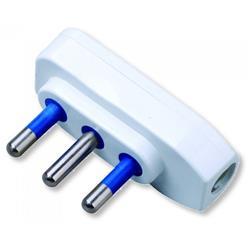 Image of · Spina con speciale design salva-spazio· Spina 2P+T 10A · 250V· Colore bianco