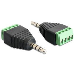 Image of IADAP TB4-AU35M è un adattatore stereo a morsettiera, ideale per particolari applicazioni industriali come ad esempio per il collegamento di fili singoli con la testa del cavo aperta. Può anche essere utilizzato nell hobby audio. Permette di