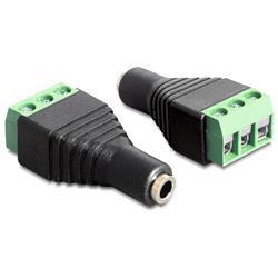 Image of IADAP TB3-AU35F è un adattatore stereo a morsettiera, ideale per particolari applicazioni industriali come ad esempio per il collegamento di fili singoli con la testa del cavo aperta. Può anche essere utilizzato nell hobby audio. Permette di