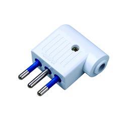 Image of · Spina piatta 2P+T 10A· Ultrapiatta, ideale per spazi piccoli· Angolata a 90°· Colore: biancoCertificazioni· CE· FCC· WEEE/RAEE· RoHS