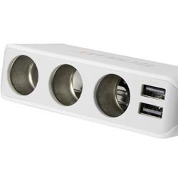 Image of · Caricatore universale da auto con 4 porte USB e 3 entrate accendisigari per dispositivi mobili· Ricarica di 4 dispositivi USB contemporaneamente· Ricarica di 3 dispositivi mobili con ingresso CC 12V contemporaneamente· Carica