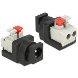 Image of IADAP TB2-DC5521F è un adattatore DC 2.1x5.5 mm a morsettiera, ideale per particolari applicazioni industriali come ad esempio per il collegamento di fili singoli con la testa del cavo aperta.Specifiche tecniche· Connettori: - DC 2.1 (all in