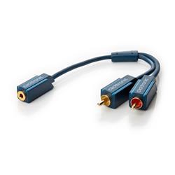 Image of L accoppiamento jack-RCA consente di collegare molti lettori MP3, smartphone, laptop e iPad al sistema HiFi o mini altoparlanti.Inoltre, grazie alla schermatura multipla dei segnali, ai materiali puri e alla lavorazione di qualità, garantisce un ri
