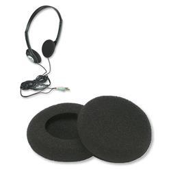 Image of · Cuscinetto in spugna per cuffie· Imbottitura protettiva di ricambio· Compatibile con modelli SB-HP3, SB-HP5 e ICC SH-481· Diametro: 5 cm· Colore: nero· La confezione inlcude un KIT di 2 pezzi