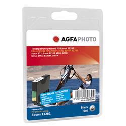 Image of ORIGINAL Agfa Photo Cartuccia d'inchiostro nero APET128BD Agfa Photo ~200 Seiten 9ml Agfa Photo T1281 (C13T12814011)