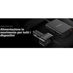 Image of ADATA CV0525 CARICATORE NERO PER AUTO 5 PORTE USB & RICARICA VELOCE