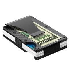 Image of · Blocco RFID porta carte di credito in carbonio· Protezione contro l accesso non autorizzato alle tue carte di credito· Fino a 14 carte di credito sempre a portata di mano· Guscio in carbonio ultraleggero· Con clip ferm