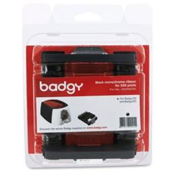 Image of Evolis colour ribbon (monochrome), fits for: Badgy200, for up to 500 cards, colour: black