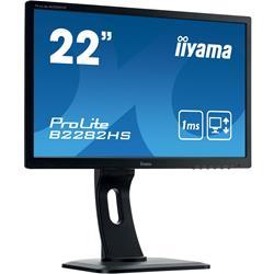 Image of Monitor TFT, 16:9, 54,6 cm (21,5''), 1920x1080 pixel, VESA Mount (100x100 mm), piede regolabile, 1ms, Luminosit?: 250cd, Angolo di visuale: 170/160?(H/V), Contrasto: 1000:1, Audio, DVI, VGA, HDMI, incl.: Cavo (DVI, Audio), Alimentatore, Cavo di alimentazi