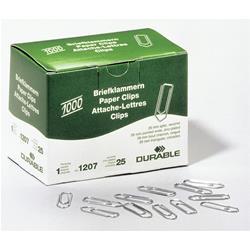 Image of ORIGINAL DURABLE Articoli da ufficio 1207-25 Büroklammern spitz (26mm) graffette DURABLE, zincate, appuntite, 26 mm, in scatola pieghevole, contenuto: 1.000 pezzi