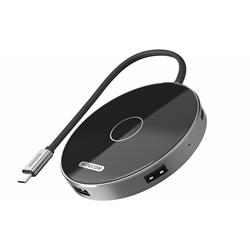 Image of SITECOM WIRELESS CHARGING USB-C HUB PD