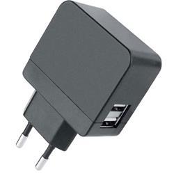 Image of · Trasformatore da muro con spina europea 2 poli con 2 porte USB· Fornisce una potenza massima di 2100mA compatibile con tutti i dispositivi USB portatili· Ideale come caricabatterie USB per fotocamere digitali, lettori mp3, cellulari