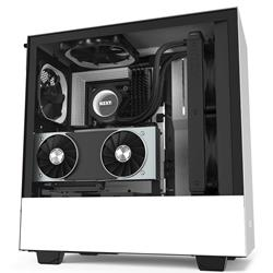 Image of NZXT GAMING CASE H510i COMP.MID T.NERO/BIANCO -2*120 Aer F-2*LED S.-F.CTRL