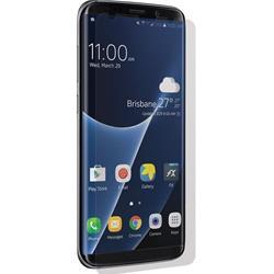 Image of · Pellicola protettiva per Samsung Galaxy S8 Plus· La superficie arcuata offre una protezione totale per il display, preservando i margini da eventuali graffi· La pellicola, quasi invisibile, non crea bolle · In grado di adatta