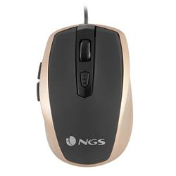 Image of NGS MOUSE TICK GOLD OTTICO 800/1600 DPI 6 TASTI USB 8435430609370