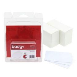 Image of Plastic cards, without magnetic stripe, white, 20 mil, 100 cards