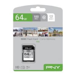 Image of 64GB PNY SD ELITE CLASS 10 UHS-I U1 100MB/S