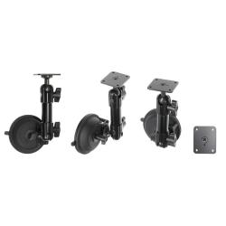 Image of Pedestal mount 7.5'' with suction cup, total length: 190 mm, with ball and wing nut, AMPS holes