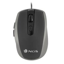 Image of NGS MOUSE TICK SILVER OTTICO 800/1600 DPI 6 TASTI USB 8435430609394