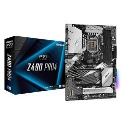 Image of Asrock Z490 Pro4. Produttore processore: Intel, Processori compatibili: Intel? Celeron?, Intel? Core? i3, Intel Core i5, Intel Core i7, Intel Core i9, Intel? Pentium?. Tipi di memoria supportati: DDR4-SDRAM, tipo di slot di memoria: DIMM, Velocit? di memo