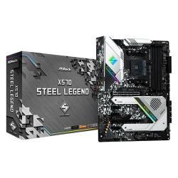 Image of Asrock X570 Steel Legend. Produttore processore: AMD, Presa per processore: Presa AM4, Processori compatibili: AMD Ryzen. Tipi di memoria supportati: DDR4-SDRAM, tipo di slot di memoria: DIMM, Velocità di memoria supportate: 2133,2400,2667,2933,320