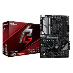 Image of Asrock X570 Phantom Gaming 4. Produttore processore: AMD, Presa per processore: Presa AM4, Processori compatibili: AMD Ryzen. Tipi di memoria supportati: DDR4-SDRAM, tipo di slot di memoria: DIMM, Velocità di memoria supportate: 2133,2400,2667,2933