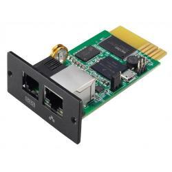 Image of La Scheda SNMP I Pro facilita la gestione dell UPS (locale e multisito) e dell alimentazione di rete grazie alle sue caratteristiche:· Collegamento alla rete Ethernet e identificazione tramite indirizzo IP· Configurazione e programmazione di