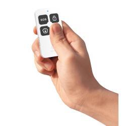 Image of Il telecomando intelligente IC-WO7054 viene utilizzato per modificare lo stato del sistema di allarme: fuori, in casa, per disinserimento o emergenza.Puoi creare il tuo scenario nell app WOOX Home per realizzare la funzionalità completa, ad esempio