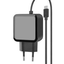 Image of Connessioni· Ingresso: spina 10A· Uscita: USB-C maschioCaratteristiche generali· Caricamento veloce e sicuro· Design compatto· Adatto per tutti i dispositivi con connessione USB-C· Corrente: 2,4A· Voltaggio