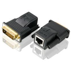 Image of Il mini estensore Cat 5 VE066 consente di estendere la distanza tra la sorgente DVI e lo schermo DVI fino a 20 metri, utilizzando un solo cavo Cat 5e o Cat 6, offrendo un modo semplice per sostituire i pesanti e costosi cavi DVI. Grazie al supporto ai col