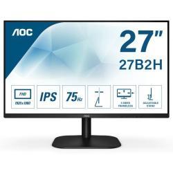 """Image of AOC Basic-line 27B2H. Dimensioni schermo: 68,6 cm (27""""), Risoluzione del display: 1920 x 1080 Pixel, Tipologia HD: Full HD, Tecnologia display: LED, Tempo di risposta: 8 ms, Rapporto d'aspetto nativo: 16:9, Angolo di visualizzazione (orizzontale): 178?, A"""