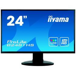 Image of Monitor TFT, 16:9, 60cm (23,6''), Risoluzione: 1920x1080 pixel, VESA Mount (100x100 mm), piede regolabile, 6ms, Luminosit?: 250cd, Angolo di visuale: 178/178?(H/V), Contrasto: 3000:1, Audio, DVI, VGA, HDMI, incl.: Cavo (DVI, Audio), Alimentatore, Cavo di