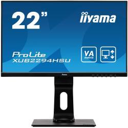 Image of Monitor TFT, 16:9, 54,6 cm (21,5''), 1920x1080 pixel, 4ms, Luminosit?: 250cd, Angolo di visuale: 178/178?(H/V), Contrasto: 3000:1, VGA, Display-Port, HDMI, incl.: Cavo (HDMI), Cavo di alimentazione, QSG, Colore: nero
