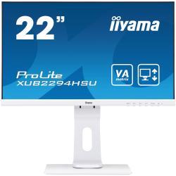Image of Monitor TFT, 16:9, 54,6 cm (21,5''), 1920x1080 pixel, 4ms, Luminosit?: 250cd, Angolo di visuale: 178/178?(H/V), Contrasto: 3000:1, VGA, Display-Port, HDMI, incl.: Cavo (HDMI), Cavo di alimentazione, QSG, Colore: bianco