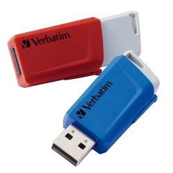 Image of I dati sono a portata di clic grazie alla chiavetta Store n Click di Verbatim! L'USB Store n Click ti offre la capacità di acquisire tutti i dati desiderati in una piccola e pratica postazione e di trasferirli comodamente durante le tue attivit&agr