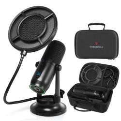 Image of · Kit microfono professionale ad alte prestazioni· Alta definizione del suono, adatto a registrazioni in studio· Ideale per giocatori, streamer e youtuber· L elegante tecnologia Vertigain brevettata aumenta la qualità de