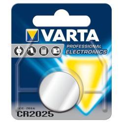 Image of · Batteria a bottone CR2025 sostituisce le seguenti batterie: CR 2025, 6025· Tecnologia: litio· Voltaggio: 3 V· Capacità: 170 mAh· Altezza: 2,5 mm· Diametro: 20 mm· Peso: 2,5 g