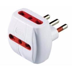 Image of · Adattatore triplo di colore bianco· Spina 10A 2P+T 250V· 3 prese bipasso 10/16A 2P+T 250V· Standard P17/11· il dispositivo è dotato di adattatore con limitatore autoripristinabile che permette l utilizzo di pres