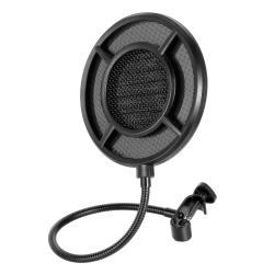 Image of · Pop filter professionale per microfono· Design a griglia metallica a doppio strato di alta qualità in grado di filtrare meglio rumore e vento per mantenere la qualità della voce· Previene l interferenza di suoni sibila