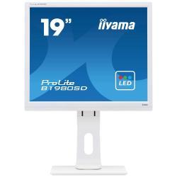 Image of Monitor TFT, 5:4, 48,3cm (19''), 1280x1024 pixel, 5ms, Luminosit?: 250cd, Angolo di visuale: 170/170?(H/V), Contrasto: 1000:1, DVI, incl.: Cavo (DVI, Audio), Cavo di alimentazione, QSG, Colore: bianco