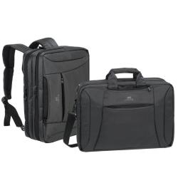 Image of RIVACASE BLACK CONV LAPTOP BAG/BACKPACK 16
