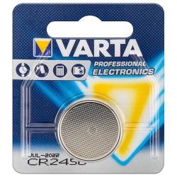 Image of · Batteria a bottone CR2450 sostituisce le seguenti batterie: CR 2450, 6450· Tecnologia: litio· Voltaggio: 3 V· Capacità: 560 mAh· Altezza: 5 mm· Diametro: 24 mm· Peso: 6,2 g
